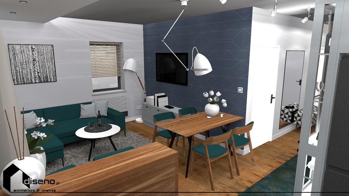 Projekt mieszkania w Rzeszowie - aranżacja wnętrz diseno