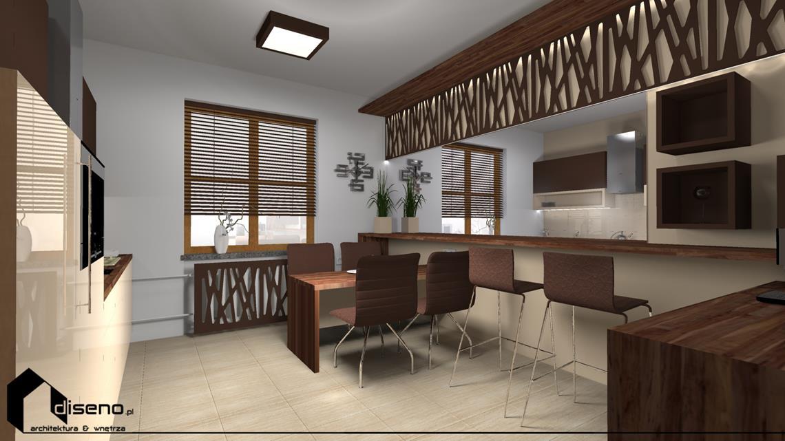Projekt pokoju śniadań - projektowanie wnętrz firmowych diseno