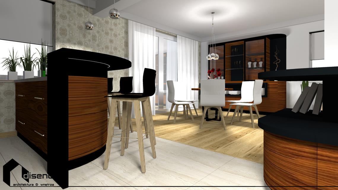 Projekt wnętrz domu jednorodzinnego - Rzeszów, Słocina - diseno