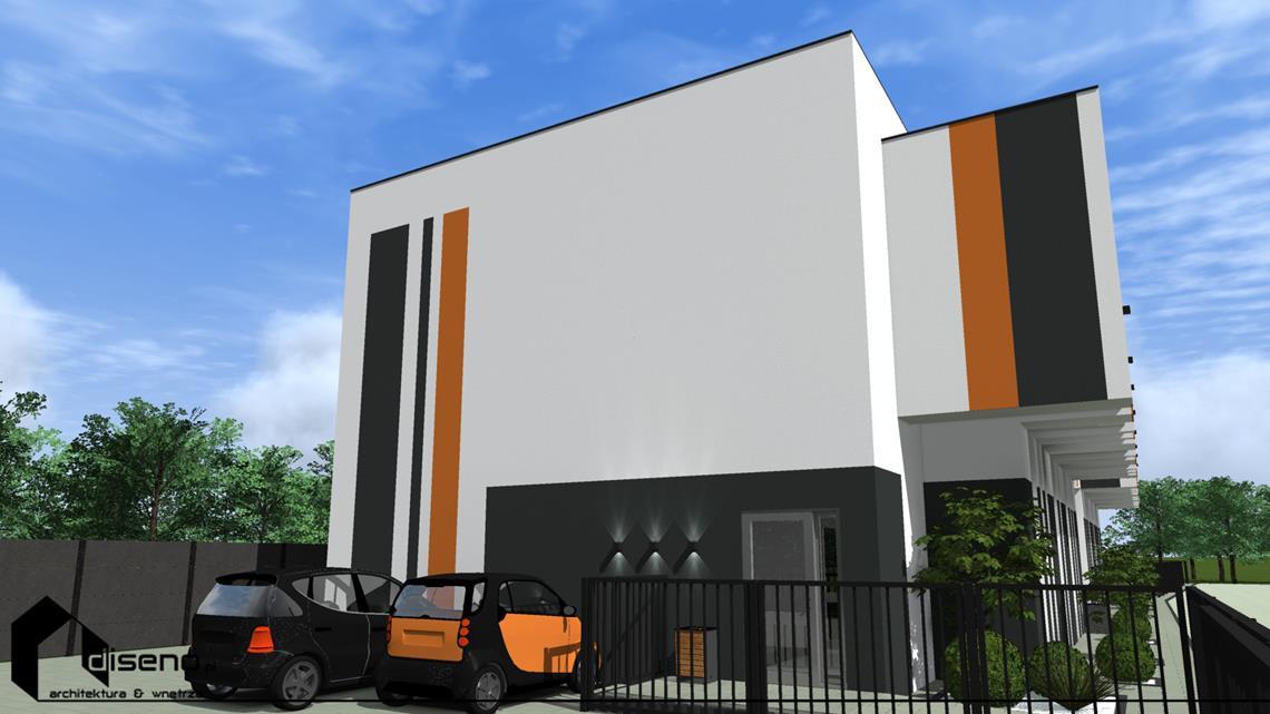 Elewacja budynku firmowego - Lubaczów - projekt diseno