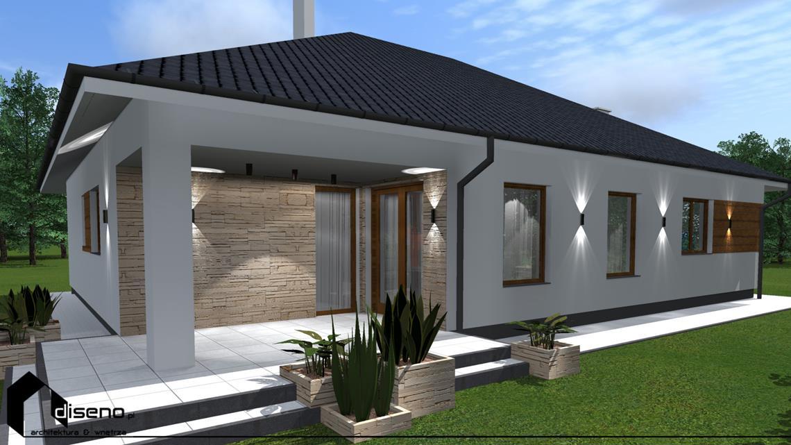 Projekt Elewacji Domu Jednorodzinnego Lubaczów Diseno