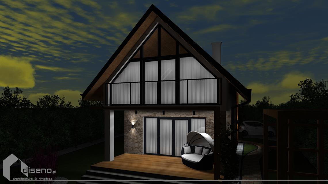 Projekt domu letniskowego w Kościerzynie - diseno