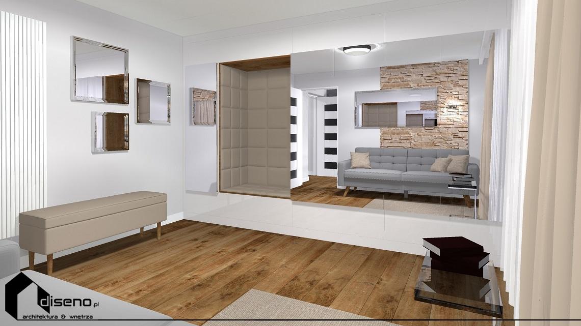 Projekt klatki schodowej i pokoju dla gości - Żurawica