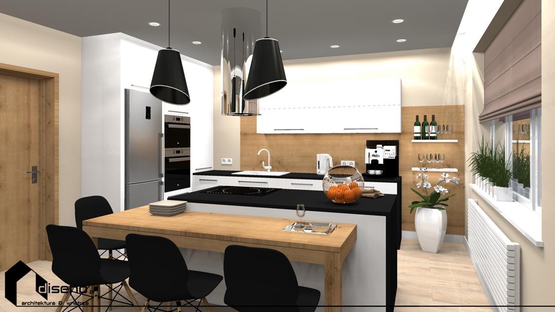 Projekt kuchni domu jednorodzinnego  Rzeszów  diseno