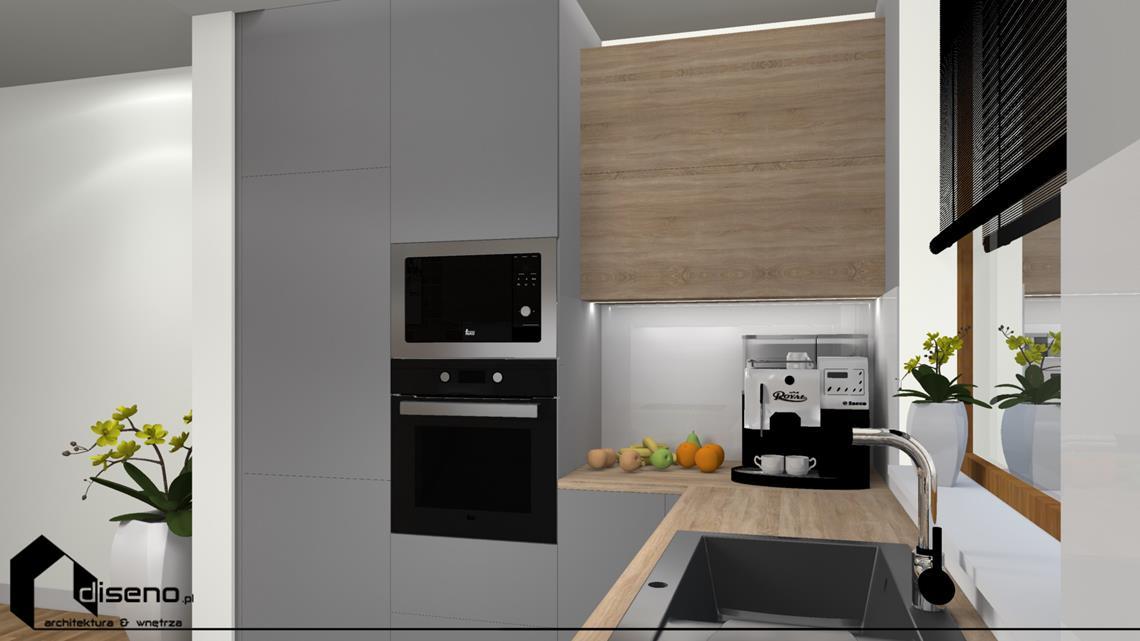 Projekt zabudowy kuchennej - architekt wnętrz diseno