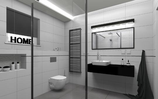 Projekt łazienki w Rzeszowie - projektowanie wnętrz diseno