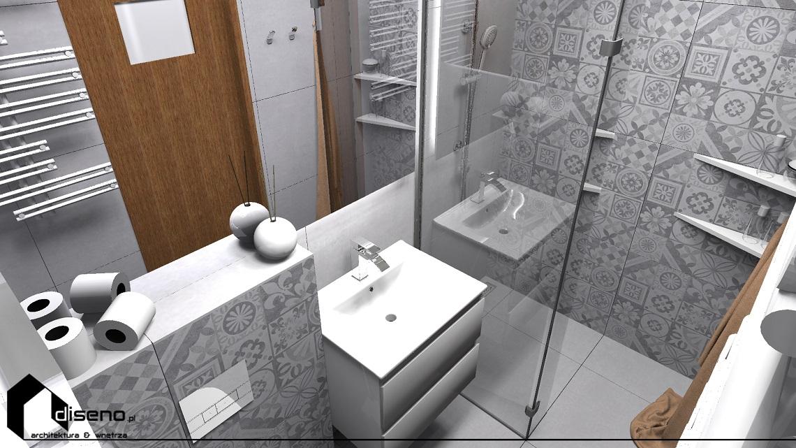 Projekt łazienki w Rzeszowie - aranżacja diseno