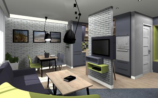 Projekt mieszkania na osiedlu Słoneczny Stok w Rzeszowie - aranżacja wnętrz diseno