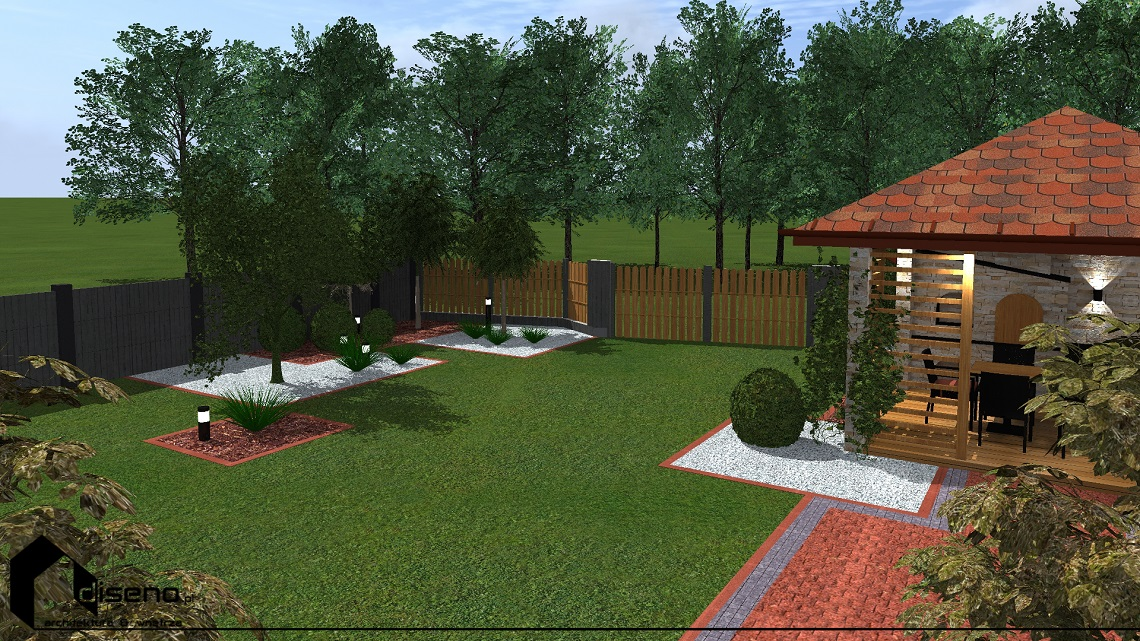Projekt ogrodu z altaną - Kalników
