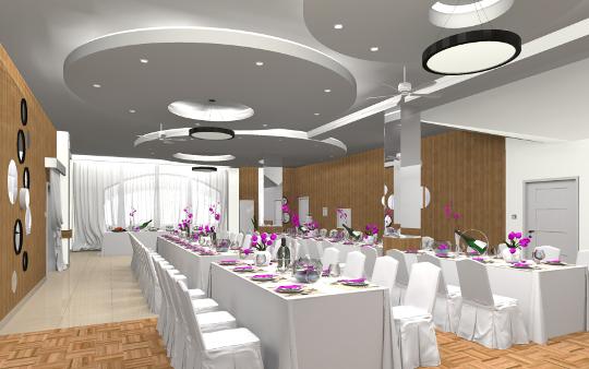 Aranżacja sali weselnej ANMAR Radymno - projekt diseno