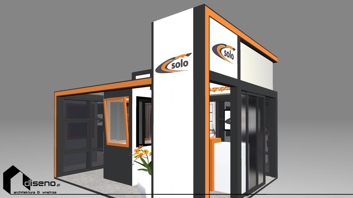 Stoisko targowe SOLO - projekt diseno