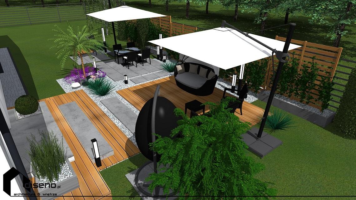 Projekt tarasu przy domu jednorodzinnym - Szebnie k. Jasła
