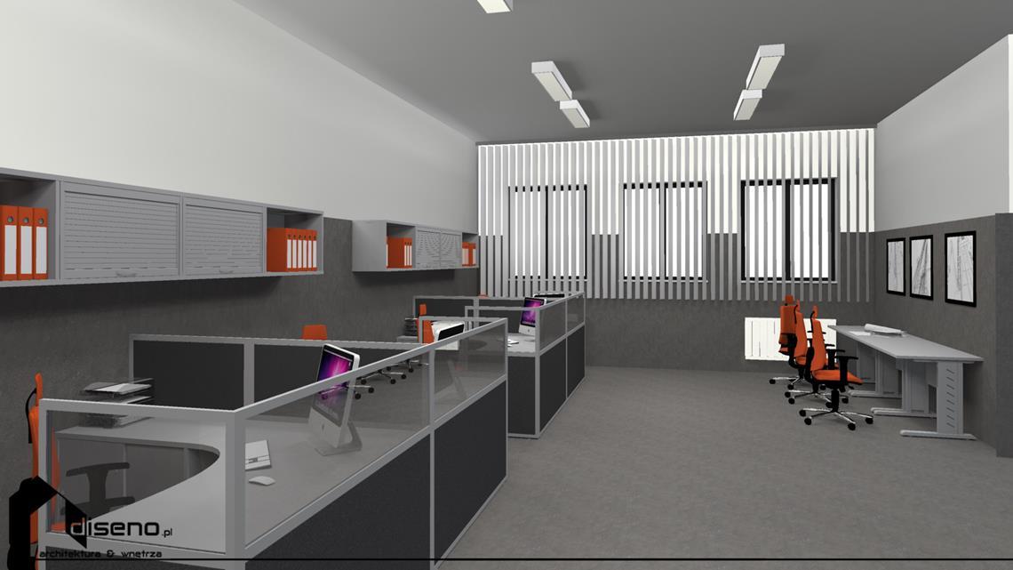 Aranżacja wnętrz firmy Iwamet Stalowa Wola - projekt diseno