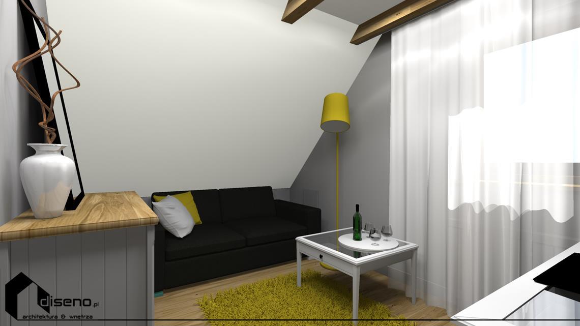 Aranżacja domu drewnianego w Jarosławiu - projekt diseno