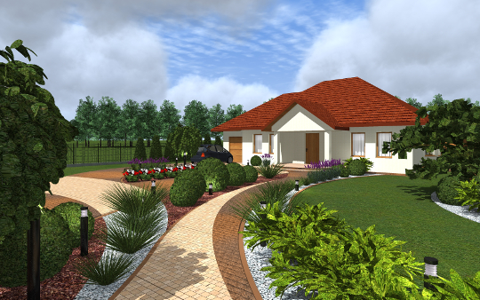 Zagospodarowanie terenu - projekt diseno